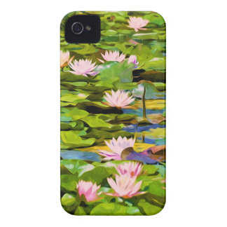Lotus Blossoms On The Protected Forest Lake Case-Mate iPhone 4 Cases