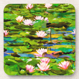 Lotus Blossoms On The Protected Forest Lake Coasters