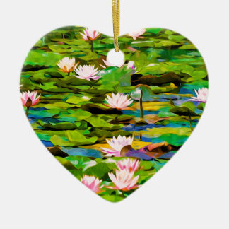Lotus Blossoms On The Protected Forest Lake Christmas Tree Ornaments