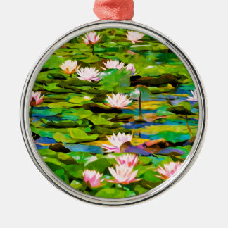 Lotus Blossoms On The Protected Forest Lake Christmas Tree Ornament