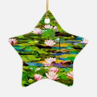 Lotus Blossoms On The Protected Forest Lake Ornaments