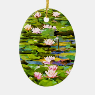 Lotus Blossoms On The Protected Forest Lake Ornament