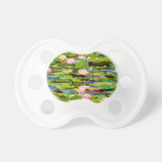 Lotus Blossoms On The Protected Forest Lake Pacifier