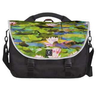 Lotus Blossoms On The Protected Forest Lake Bag For Laptop