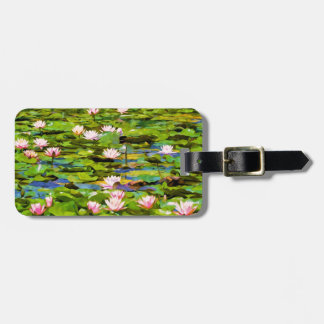 Lotus Blossoms On The Protected Forest Lake Tags For Luggage