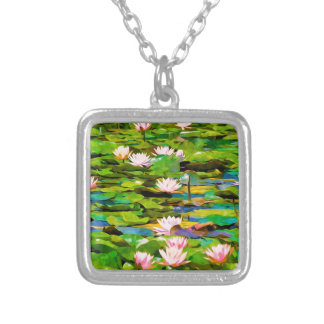 Lotus Blossoms On The Protected Forest Lake Necklace