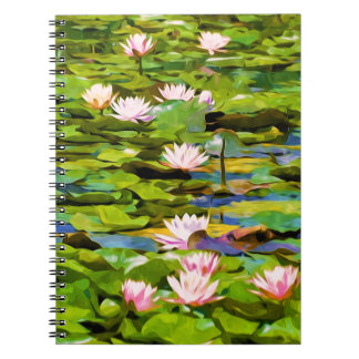 Lotus Blossoms On The Protected Forest Lake Notebook