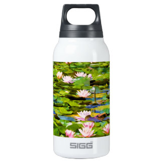 Lotus Blossoms On The Protected Forest Lake 10 Oz Insulated SIGG Thermos Water Bottle