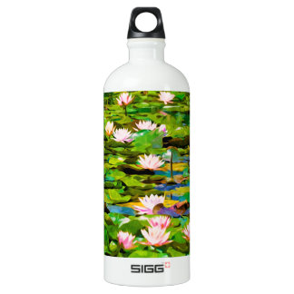 Lotus Blossoms On The Protected Forest Lake SIGG Traveler 1.0L Water Bottle