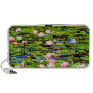 Lotus Blossoms On The Protected Forest Lake Speaker