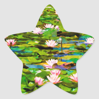 Lotus Blossoms On The Protected Forest Lake Sticker