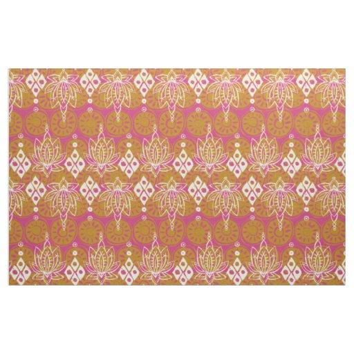lotus diamond pink fabric