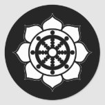 Lotus Flower Dharma Wheel Classic Round Sticker