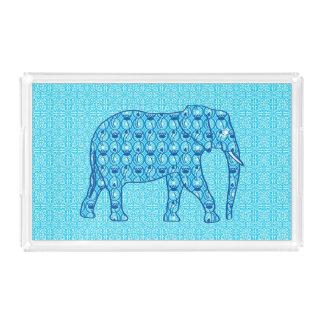 Lotus flower elephant - turquoise acrylic tray