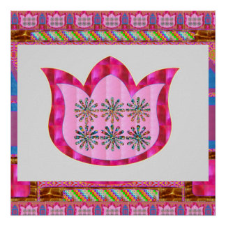 LOTUS Flower : Intuitive Art - Pearls, Jewels Poster