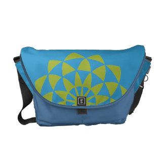 Lotus flower messenger bag