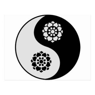 Lotus Flower Yin Yang Post Card