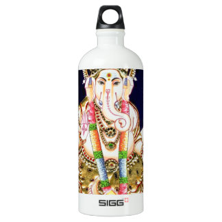LOTUS GANESHA TANJORE PAINTING WATER BOTTLE