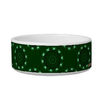 Lotus Mandala (Green) Pet Food Bowls