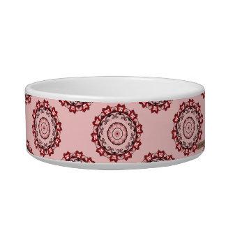 Lotus Mandala (Red) Pet Food Bowls