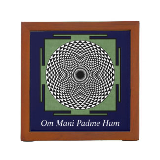 Lotus meditation dharma wheel desk organiser