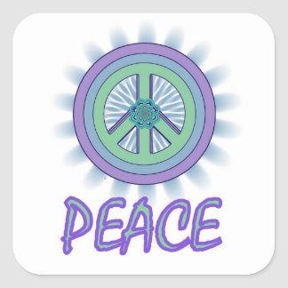 Lotus Peace Symbol Sticker