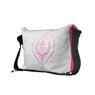Lotus Pinstriping Design Messenger Bags