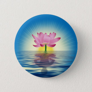 Lotus Reflection 6 Cm Round Badge
