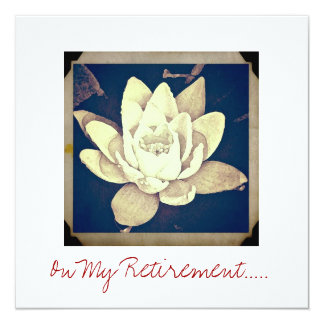 """LOTUS"" RETIREMENT PARTY INVITATION CARD"