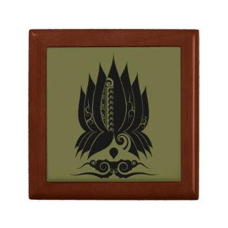 Lotus Spiral Small Square Gift Box