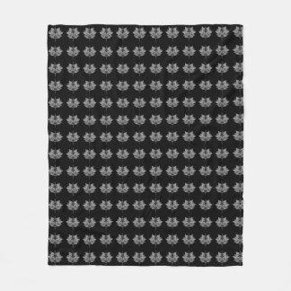 Lotus Symbol Fleece Blanket