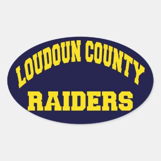 Loudoun County Raiders Oval Sticker