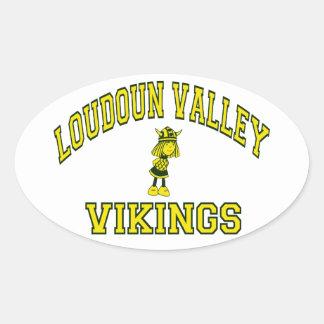 Loudoun Valley Vikings Oval Sticker
