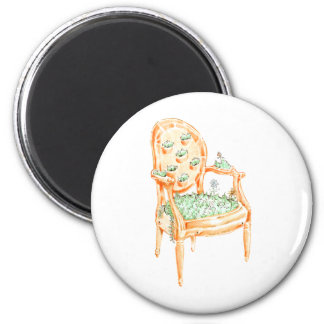 Louis Chair - Material Change - Clay pot 6 Cm Round Magnet