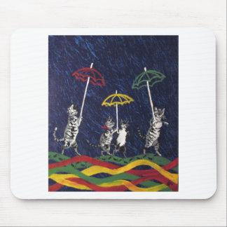 Louis Wain Umbrella Cats Artwork Mouse Pad