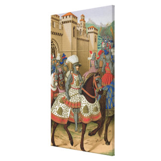 Louis XII (1462-1515) Leaving Alexandria on the 24 Canvas Print