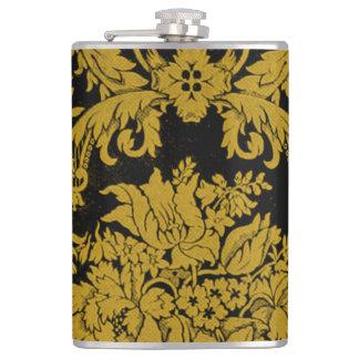 Louis XIV Golden Damask Hip Flask