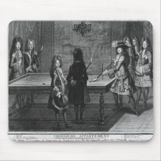 Louis XIV playing billiards with his brother Mouse Pad