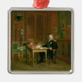 Louis XVIII  in his Study at the Tuileries Christmas Ornament
