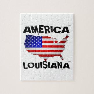 LOUISIANA AMERICAN STATE DESIGNS JIGSAW PUZZLE