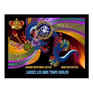Louisiana Bicent. Mardi Gras Postcard