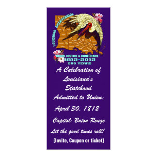 Louisiana Bicentennial  Important See Notes Below Personalised Rack Card