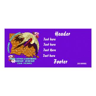 Louisiana Bicentennial over 30 Colours View Hints Rack Card Design