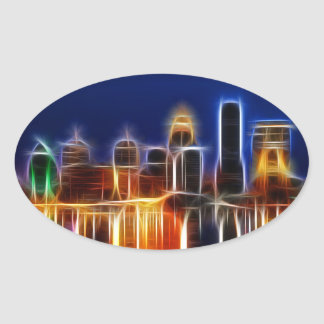 Louisville abstract oval sticker