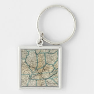 Louisville and Nashville Railroad 2 Key Ring
