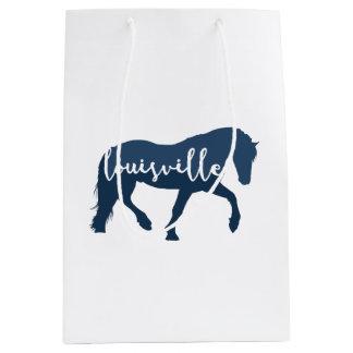 Louisville Horse Hand Lettering Medium Gift Bag