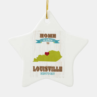 Louisville, Kentucky Map – Home Is Where The Heart Christmas Ornament