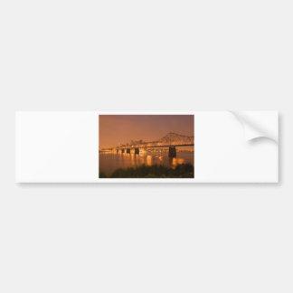 Louisville Kentucky Night Lights Bridge Ohio River Bumper Sticker