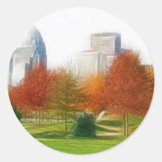 Louisville Ky Classic Round Sticker