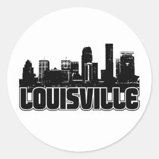 Louisville Skyline Classic Round Sticker